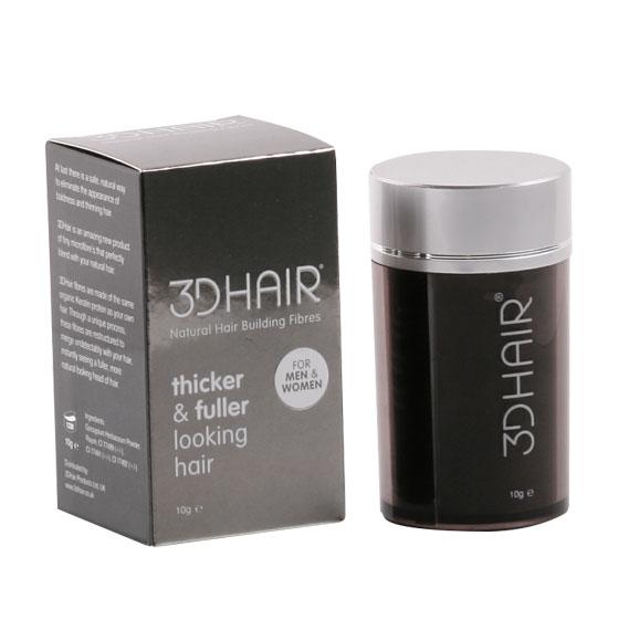 3D Hair Loss Natural Building Fibres (10g/Black)