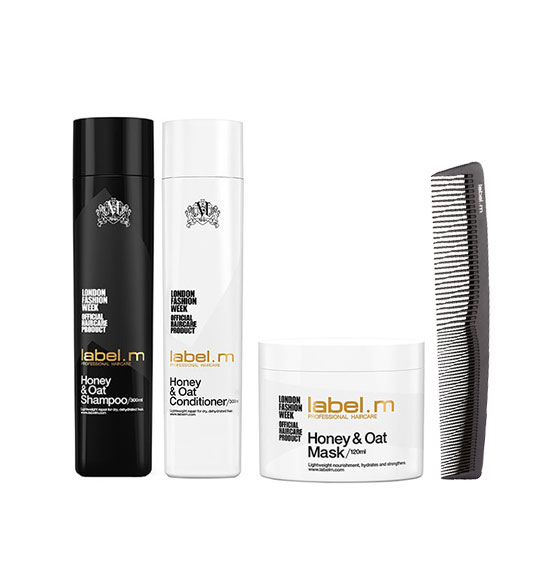 Hair Styling Products Hair Treatment Hair Shampoo Body Care & Hygiene label.m honey & oat mother's day gift set