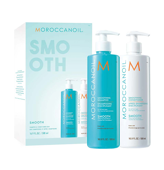 TONI&GUY Moroccanoil smoothing shampoo & conditioner duo (500ml)