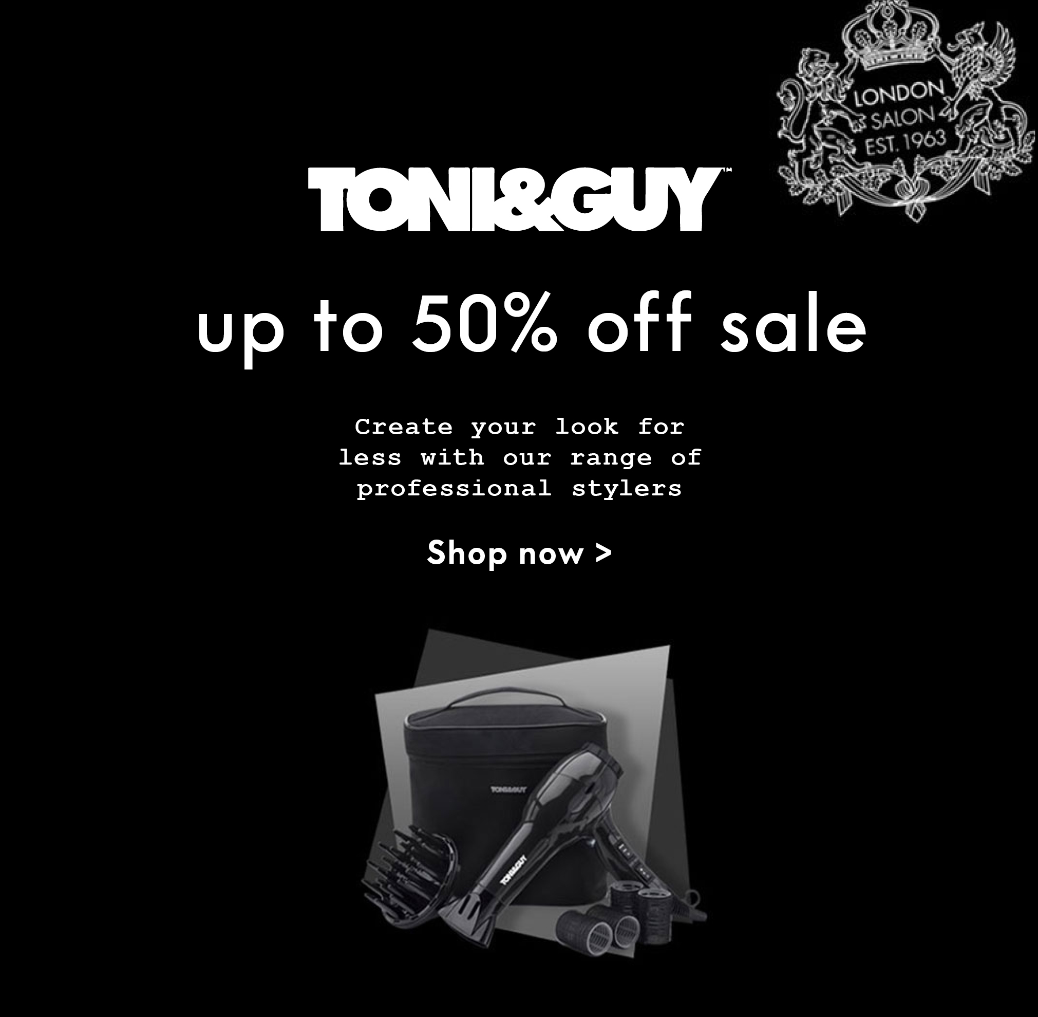 TONI&GUY electrical sale