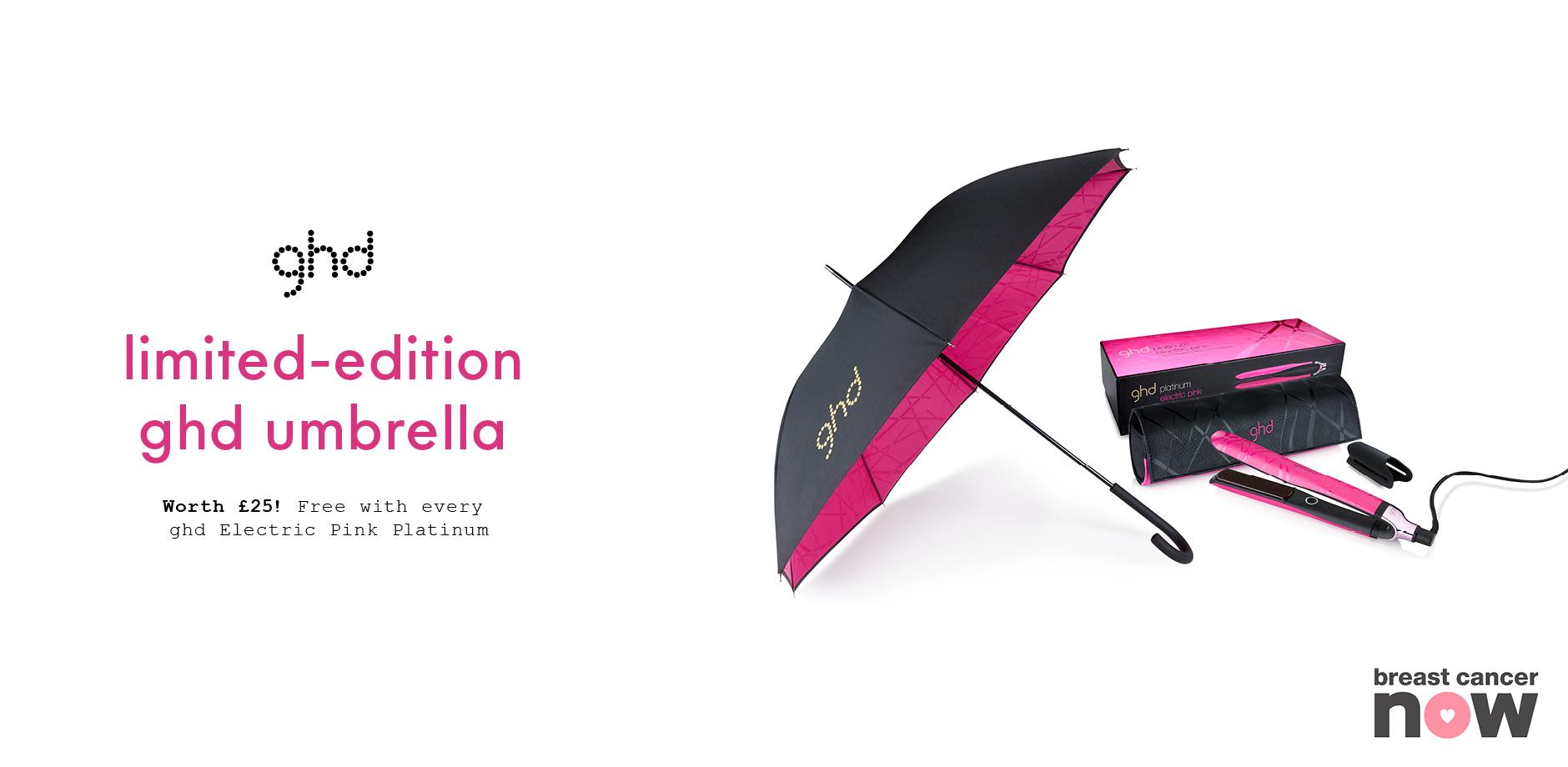 electric pink umbrella