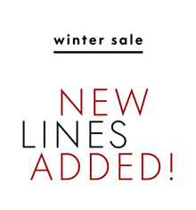 Winter Sale. New lines added.