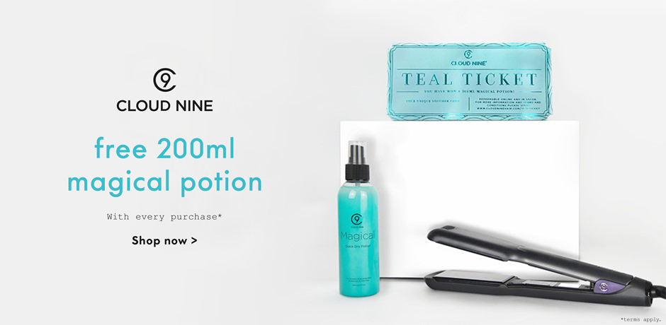 Cloud Nine teal Ticket