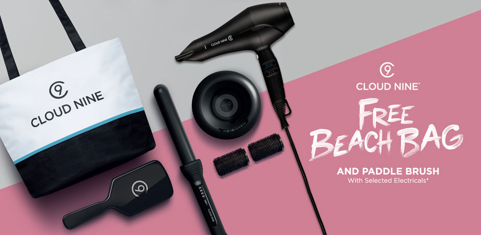 Free Cloud Nine Summer Tote Bag and Paddle Brush