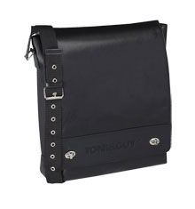 TONI&GUY Black Leather Stylist Bag