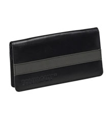 TONI&GUY Grey & Black Leather Scissor Case