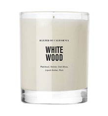 Baxter White Wood Candle