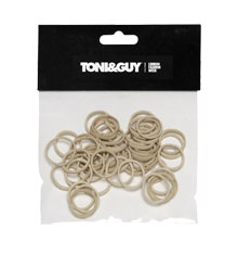 TONI&GUY No Pull Braiding Bands Beige 15mm (Pack of 50)