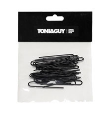 TONI&GUY Twisted U-Pin Black 50mm (Pack of 40)