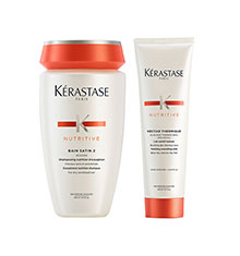 Kérastase Nutritive Bain Satin 2 & Nectar Thermique Bundle