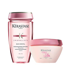 Kérastase Cristalliste Bain Cristal Fine & Luminous Perfecting Masque Bundle