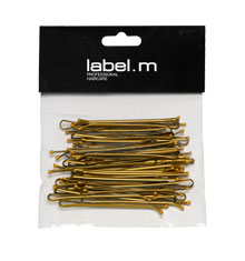 label.m Kirby Grip Straight Bronze 70mm (Pack of 40)