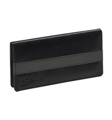 label.m Grey & Black Leather Scissor Case