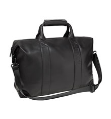 label.m Black Large Leather Kit Bag