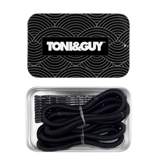 TONI&GUY Thick Elastic & Bobby Pin Combo - Black