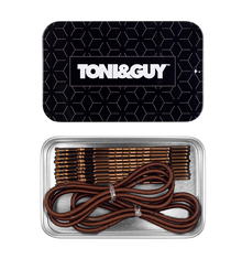 TONI&GUY Thin Elastic & Bobby Pin Combo - Brown
