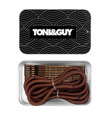 TONI&GUY Thick Elastic & Bobby Pin Combo - Brown
