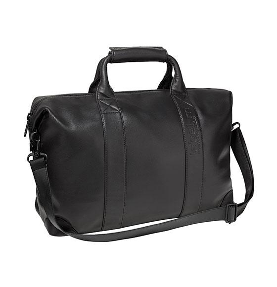 label.m Large Black Leatherette Kit Bag