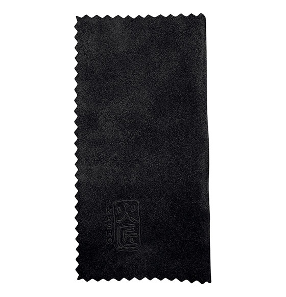 Kasho Leather Cloth Black