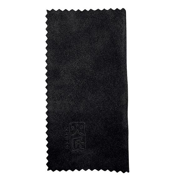 Kasho Leather Cloth Black