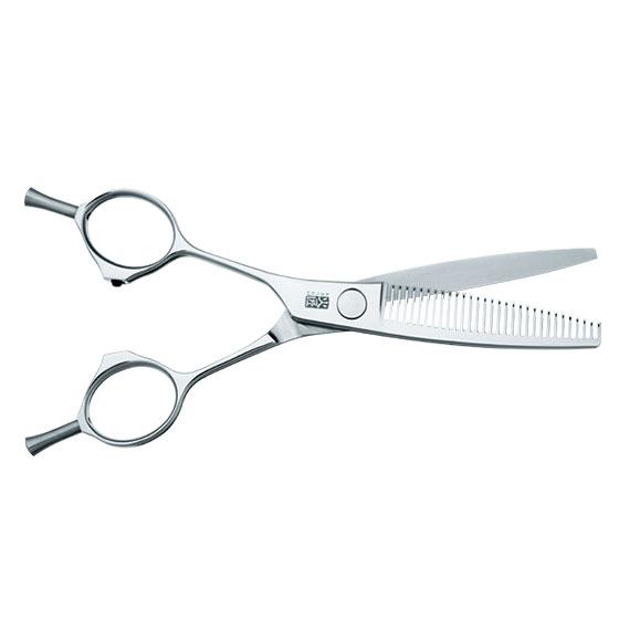 """Kasho Ivory Series Straight Left-handed 30 Teeth Texturiser 6.0"""" Scissor"""